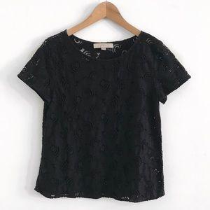 Loft lace Top blouse shirt size S